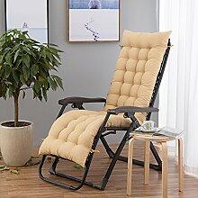 Yancyong Klappstuhl Kissen, Dicke Baumwolle Pad Büro Stuhl Kissen, 48 * 120 Cm, Beige