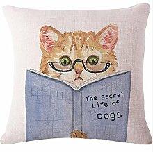 Yancyong Tier Hund Katze Bettwäsche Kissen Decorativefilling Dekor Stuhl Pad Form: Quadrat Muster: Bestickte Stil: Pastorale Nutzung: Sitz Füllung: Pp Baumwolle, Ein