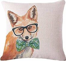 Yancyong Tier Hund Katze Bettwäsche Kissen Decorativefilling Dekor Stuhl Pad Form: Quadrat Muster: Bestickte Stil: Pastorale Nutzung: Sitz Füllung: Pp Baumwolle, D