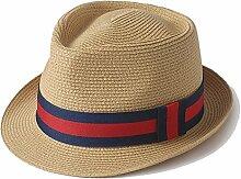YANFEI Hut Visier-Hut gesponnener Strohhut-Beige, weißer Sonnenschutz UVschutz-schöne Mode atmungsaktiv (Farbe : D)