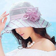YANFEI Hut Visier Hut Hellblau, Hellgelb, Lila Kühl Und Atmungsaktiv Sonnenschutz UV-Schutz Schön Und Stilvoll atmungsaktiv (Farbe : C)