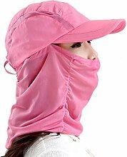 YANFEI Hut Visier Hut Schwarz, Blau, Rot, Lila Atmungsaktives Mesh Sonnenschutz UV-Schutz Schön Und Stilvoll atmungsaktiv (Farbe : Rot)