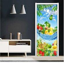 YANFLY PVC Selbstklebende Tür Aufkleber Kreative