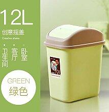 YANG-LX Badezimmer-Mülleimer mit Deckel Home @