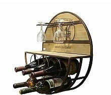 YANG\\\ Robustes Vintage-Weinregal Zum Aufhängen,