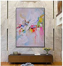 YANGDINGYAO Leinwandmalerei abstrakte Wandkunst
