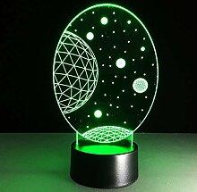 Yangll LED 3D Stern Lampe Tisch Schreibtisch
