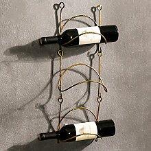 YANGMAN Weinflaschenregal, aus Schmiedeeisen, zur