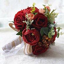Yangxuelian Brautstrauß Künstliche Blumen Rose