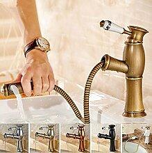 Yanhongyu Antik Kupfer Kupfer Badewanne Wasserhahn Armatur Wasserhahn Badezimmerwand Mischen Montiert Dusche Mischer ,Schlauch