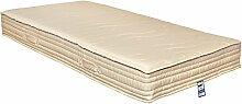 Yanis Latex Kokosfaser Dual Comfort Matratze, Textil, beige, 135x190cm