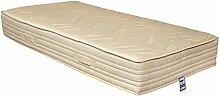 Yanis Serenity Bio Latex Matratze fest, Textil, beige, 90x200cm