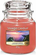 Yankee Candle Cliffside Sunrise, Glas, Orange,