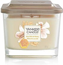 Yankee Candle Elevation Duftkerze, Glas, weiß,