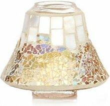 Yankee Candle HGP300 Lampenschirm, 9 x 9 x 7 cm, Glas, gold / Perlmu