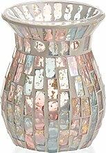 Yankee Candle Romance Lampe, Glas, Gold/pastell Blau/rosa, 11 x 11 x 14 cm