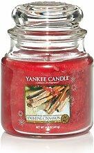 Yankee Candle Sparkling Cinnamon Kerze im Glas,