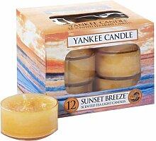 Yankee Candle Sunset Breeze Duftteelicht, 12er,