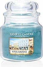 Yankee Candle Viva Havana, Kerze, Glas, Grün, 9,9