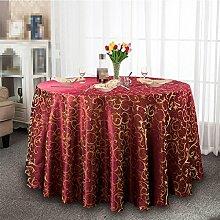 YANLIU Hotel Tischdecke, Tuch europäisches Restaurant Restaurant Tischtücher, große runde Tisch Tischtücher Tischdecken , 6 , diameter 200cm