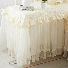 YANLIU Lace Nachttisch Schrank Tuch, Staubschutz, kleine Tisch Tuch Tuch , #1