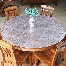 YANLIU Pvc weichen Glas kreisförmigen Tischdecke, Tisch wasserdicht anti-hot Pad Kunststoff-Kristallplatte runde Tischmatte , 5 , diameter 140cm
