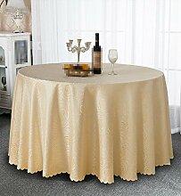 YANLIU Restaurant Tischdecken, Europäische runde Tischdecken, runde Tischtisch Röcke, Restaurant Hotel Tischdecken , 7 , 160*160cm