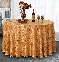 YANLIU Restaurant Tischdecken, Europäische runde Tischdecken, runde Tischtisch Röcke, Restaurant Hotel Tischdecken , 5 , 180*180cm