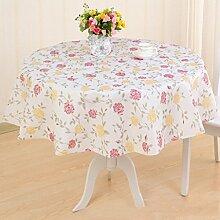 YANLIU Runde Tischtücher Plastik Tischdecken Tischdecke EVA wasserdichte Anti-Öl Tischdecken , 4 , diameter 120cm
