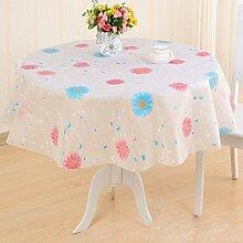 YANLIU Runde Tischtücher Plastik Tischdecken Tischdecke EVA wasserdichte Anti-Öl Tischdecken , 3 , diameter 120cm