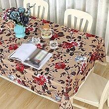 YANLIU Tischdecken aus Baumwolle und Leinen, pastorale frische Tuch-Kaffeetisch-Tischdecken, Wohnzimmer-Tischdecken , 005 , 60*90cm