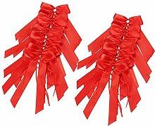 Yanoza 100 Stück Rot Antennenschleifen