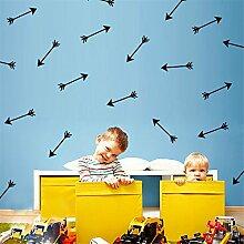yanqiao 28Stück/Set Pfeile Wand Aufkleber Vinyl Schriftzug Tapete Home Dekor für Wohnzimmer Schlafzimmer Küche Kinder Zimmer der Kinderzimmer Decor, Gold schwarz