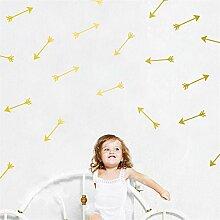 yanqiao 28Stück/Set Pfeile Wand Aufkleber Vinyl Schriftzug Tapete Home Dekor für Wohnzimmer Schlafzimmer Küche Kinder Zimmer der Kinderzimmer Decor, Gold gold