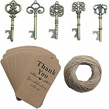 Yansanido 50 Stück Skelett Schlüssel