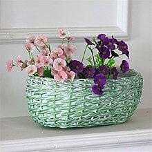 YANZHEN Amerikanischen Stil Korbgeflecht Töpfe Kreative grüne Pflanze Töpfe Traditionelle handgemachte Heimtextilien