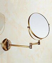 YANZHEN Bad Antique Make-up Spiegel Wand hängende Schönheit Spiegel doppelseitige Teleskop-Klappspiegel mit LED-Leuchten Badezimmer Vergrößerungsspiegel Großes Muttertagsgeschenk ( Farbe : B )