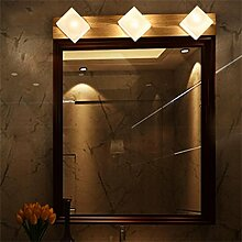YANZHEN-Badezimmer Wandleuchte LED massiv Holz Spiegel Vorne Lichter Warm White Spiegel Schrank Lichter Badezimmer WC Spiegel Lampe Nachttisch Einfache und moderne Wandleuchte -Wand Spiegel Licht ( größe : 3 Headlights )