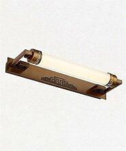 YANZHEN-Badezimmer Wandleuchte LED-Spiegel Vorne Lichter Spiegel Schrank Lichter Badezimmer WC Make-up-Lampen Schlafzimmer Wandleuchte -Wand Spiegel Licht ( Farbe : A-Warm Light-47cm-8w )