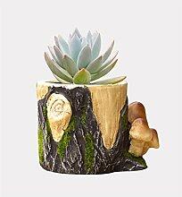 YANZHEN Breathable Zement Blumentopf Desktop-Becken