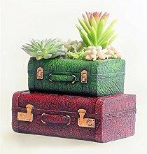 YANZHEN Europäische Art Retro Koffer Blumentöpfe Kreative Harz Heimtextilien