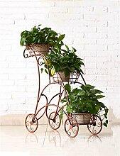 YANZHEN Europäische - Stil Eisen Blume Rack Metall Kreative Home Interior Blume Racks Pflanzentreppe ( Farbe : Messing )