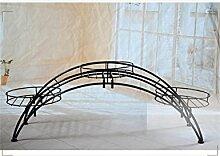YANZHEN Europäische - Stil Indoor Eisen kreative Blumen Racks Pflanzentreppe ( Farbe : Schwarz )