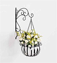 YANZHEN Europäische Wand hängende Blumentopf Rack / Blume Rack Eisen Blume Regal Balkon Wand Rack mit Körbe von Pflanzen / Bonsai Regal Pflanzentreppe ( Farbe : C )