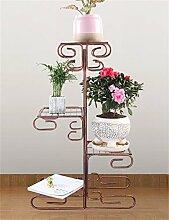 YANZHEN European-Stil Eisen Four-Tier-Boden Blumentopf Regal, Pflanzen stehen, Blumen-Rack für Balkon, Indoor, Wohnzimmer Pflanzentreppe ( Farbe : B )