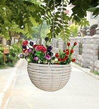 YANZHEN Hängende Blumenkörbe Persönlichkeitsblumentöpfe Kreative Hirtenholzweberei Heimtextilien