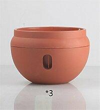 YANZHEN Innen-Plastik-Blumentöpfe Lazy Wasserspeicher Dipper-Becken Hängende Blumentöpfe Heimtextilien ( Farbe : A , größe : 3 piece )