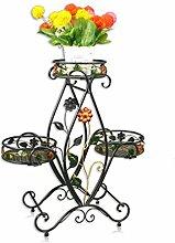 YANZHEN Iron Flower Racks Multi-Boden-Balkon Blumentopf Rack Europäische Wohnzimmer Indoor-und Outdoor-Pflanzen Regale / Blumen Regal Pflanzentreppe ( Farbe : A )