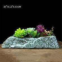 YANZHEN Keramik Töpfe Imitation Stein kreative Blumentöpfe Home Gartenarbeit Baumschule Pflanze Blumentöpfe Home Decoration ( Farbe : G )