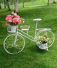 YANZHEN Kreative Blumentöpfe Regal Pflanze stehen Europäischen Eisen Fahrrad Blume Rack Flower Pot Holder Pflanzentreppe